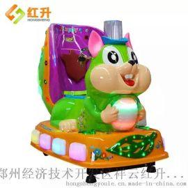 郑州红升儿童投币摇摆机一只松鼠电动摇摇车