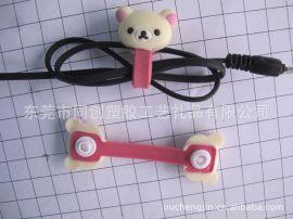 按扣耳机绕线器,扭扣耳机绕线器,轻松熊耳机绕线器