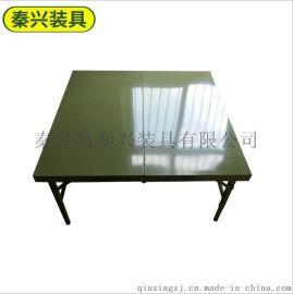 方形鐵折疊桌 便攜式擺攤折疊桌 折疊會議桌 廣告宣傳展示桌
