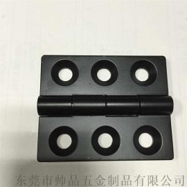 低价喷塑黑色锌合金合页镀亮光铬锌合金铰链80*65*6.0