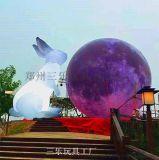 中秋節展會專用吉祥三寶充氣玉兔充氣月球充氣月餅