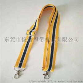 间色涤纶带 银色调节扣的双狗扣背带做儿童乐器背带用