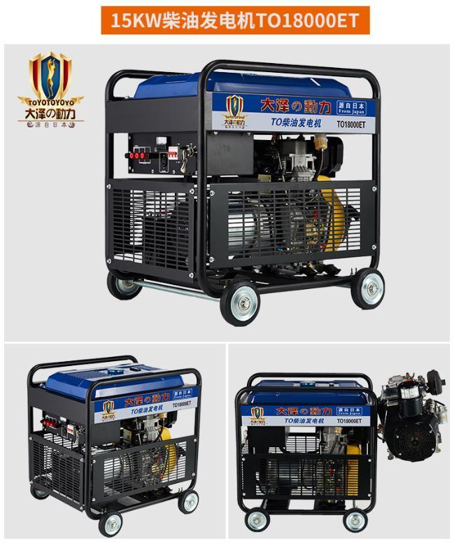 现货供应大泽动力15KW柴油发电机TO18000ET