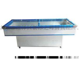 山西太原冰之峰商用卧式冰柜冷冻冷藏冰箱卧式岛柜