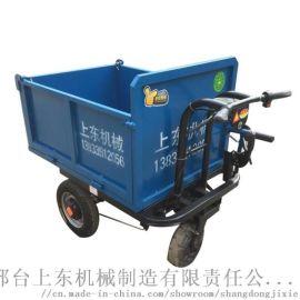 小型电动手推车建筑工地灰斗车
