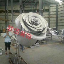 铝制玫瑰花,艺术工艺品造型双曲板铝合金玫瑰花