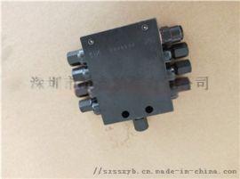 三一中联SSV14递进式分油器黄油分配阀 搅拌机黄油润滑油14孔分配器