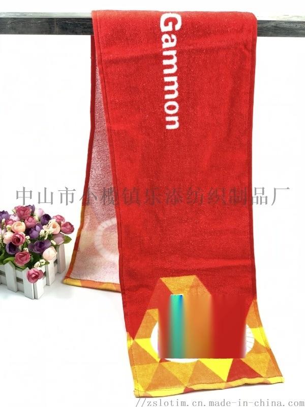 廠家訂製純棉數碼印花巾 吸水快乾廣告運動毛巾