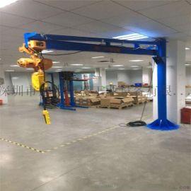 深圳小型旋臂吊,电动旋转平衡吊墙壁吊0.5吨