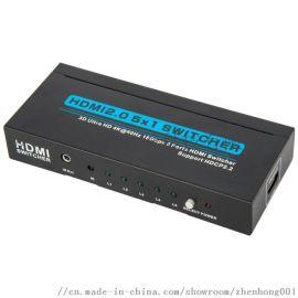 HDMI切换器五进一出4K@30Hz 3D1.4V