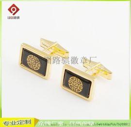 上海铜镀金袖扣 男士商务袖扣 礼品广告袖扣套供应