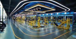 健身房私教多功能地胶铺设画图,PVC运动地板,场地地胶