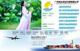 中国到马来西亚海运双清关专线