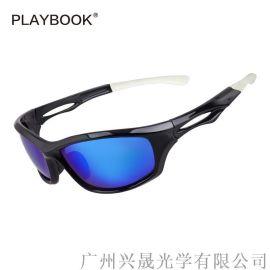 騎行運動偏光太陽眼鏡 亞馬遜熱銷爆款跑步運動眼鏡