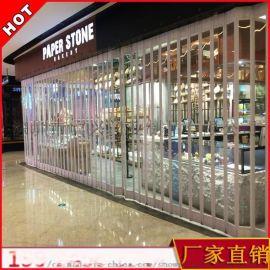 定制水晶门  透明水晶折叠门电动水晶卷帘门