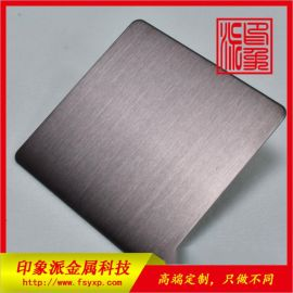 厦门彩色不锈钢生产厂家 304拉丝咖啡金不锈钢板