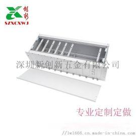 插卡外壳铝合金机箱定制铝电源壳医疗测试仪表插箱