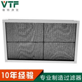 尼龙网初效过滤器铝框板式可清洗空气过滤器