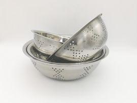 05无磁不锈钢洗米筛沥水盆淘米盆洗菜盆水果盆