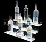 亚克力红酒展示架 洋酒鸡尾酒透明陈列道具