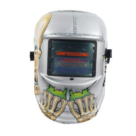 頭戴式太陽能自動變光電焊面罩