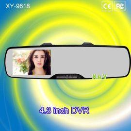4.3寸双镜头后视镜行车记录仪(XY-9043)