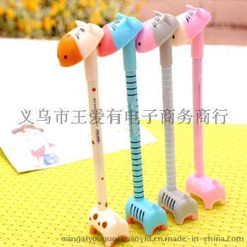 韩国文具 可爱 创意 表情驴 中性笔 配底座 可爱驴中性笔
