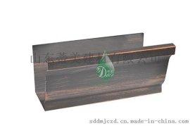 蒂美DMI生产彩铝落水系统 排水天沟 雨水槽 外墙下水管