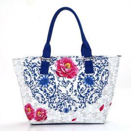 玫瑰有約SM003青花瓷系列女士大包  手提單肩包
