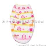 包巾批發 初生嬰兒襁褓 卡通印花法萊絨寶寶睡袋 信封式包被