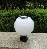 太陽能柱頭燈具產品 太陽能圍牆門柱燈 戶外庭院LED照明燈 家用花園柱子牆頭燈 圓球形景觀燈廠家批發