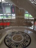 贵阳别墅楼梯装饰修效果图 铝艺楼梯扶手订做厂家