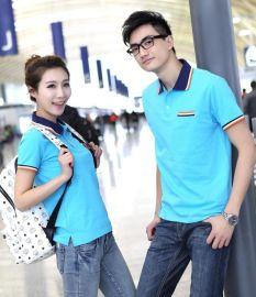 纯色T恤男款短袖棉 手绘空白促销服广告衫工服poloT恤衫定制logo