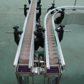 耐高温平顶链板生产线 食品药品饮料食用油灌装不锈钢链板输送机 塑钢链板流水线厂家直销