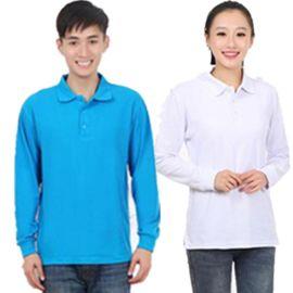 廠家供應春秋冬季長袖男款促銷廣告衫T恤衫翻領衫可定制LOGO