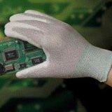防静电手套 PU涂掌手套 尼龙碳素纤维防静电手套
