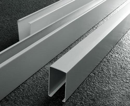 滾塗U型木紋鋁方通,鋁格柵天花,木紋方通