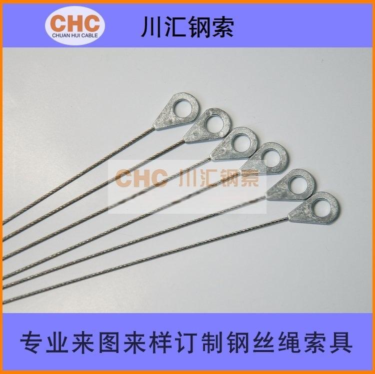 不锈钢绳压锌头,压铸锌头钢丝绳