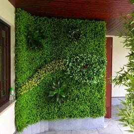 仿真植物墙 仿真花墙背景装饰 仿真绿色植物墙 厂家批发
