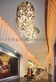 厂家直销酒店大堂玻璃泡泡球吸顶灯 大型玻璃艺术造型工程灯