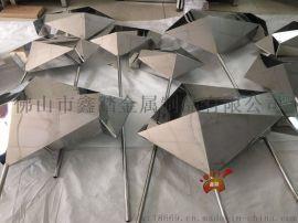 定制镜面3D不锈钢抽象鱼 镜面不锈钢雕塑来图可定做