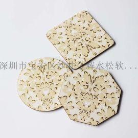 杯垫、餐垫 工艺品生产厂家 出品欧美 陶瓷杯配套 MDF杯垫餐垫 订制