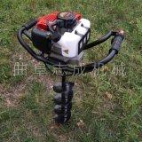 志成园林机械挖坑机汽油两冲程挖坑机