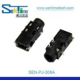 耳机插座PJ318 耐高温插座 3.5口径沉板式5脚耳机座