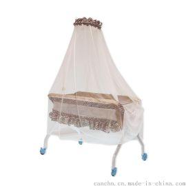 灿成折叠斑马纹儿多功能婴儿床宝宝防蚊折叠便携摇床新生儿摇床 BC-2002