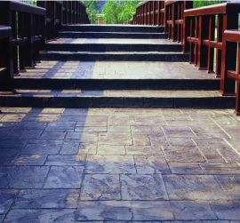 彩色混凝土压模 彩色压模混凝土 彩色压模地坪