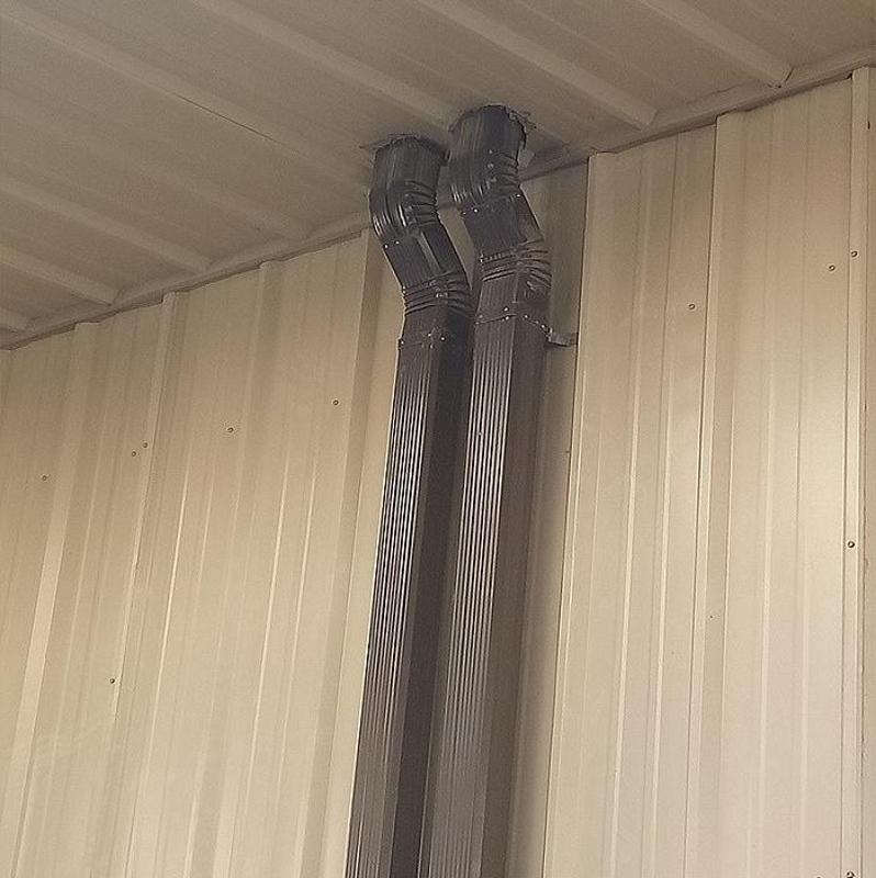 绍兴供应144*108型/95*133型彩钢落水管 彩钢雨水管 彩铝落水管 金属雨水管 方型落水管 矩形落水管排水管