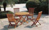 實木可摺疊桌椅(WT-C015)