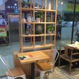 白蜡木餐桌 实木带抽屉可储藏隔断