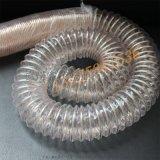 pu镀铜钢丝进口木工吸尘钢丝伸缩软管原料通风用管